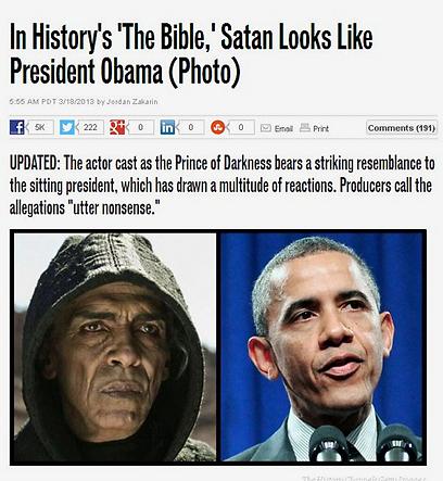 """הדיווח על תקרית השטן-אובמה. """"שטויות"""", אומר השחקן ()"""
