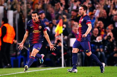 השער שהשאיר את העונה האירופאית של ברצלונה בחיים (צילום: AP)