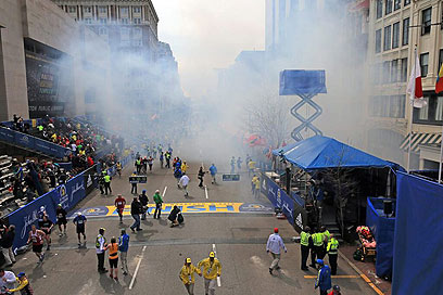 Scene of attack in Boston (Photo: AP)