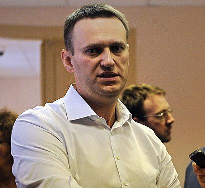 נבלני. טוען לחפותו, מצפה להרשעה (צילום: AFP)