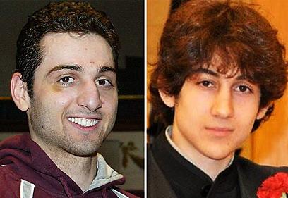 האחראים האמיתיים לפיגוע, האחים דז'וחר וטמרלן צרנייב (צילום: AP)