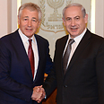 Hagel and Netanyahu in Jerusalem Photo: Moshe Milner, GPO