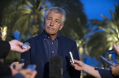 Hagel in Abu Dhabi (Photo: AP) (Photo: AP)