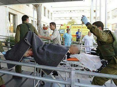 Terrorist brought to hospital (Photo: Dan Ashikov)