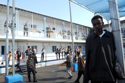 Saharonim detention facility (Photo: Haim Horenstein)