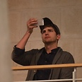 Ashton Kutcher in Israel, last week Photo: Motti Kimchi