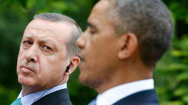 Obama and Erdogan during the latter's visit to Washington, DC (Photo: Reuters)