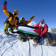 """""""Arabs with Altitude"""" brandishing a Palestinian flag"""