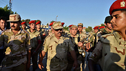 Egyptian soldiers near Rafah Photo: AFP