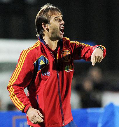 מאמן הנבחרת הצעירה של ספרד, ג'וליאן לופטגי (צילום: gettyimages)