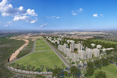 """מבט על השכונה העתידית (צילום: שיכון ובינוי נדל""""ן)"""