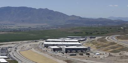 """""""הכל בוצע כחוק"""". מטה סוכנות הביון NSA ביוטה (צילום: AP)"""