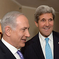 Netanyahu (L) and Kerry on Friday Photo: EPA