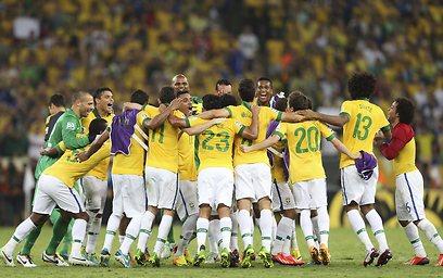 נבחרת ברזיל (צילום: AP)