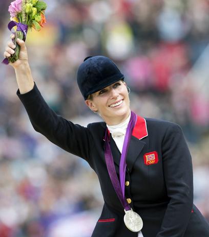 מצטיינת בספורט. זארה ומדליית הכסף מאולימפיאדת לונדון (צילום: AFP)
