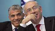 Prime Minister Benjamin Netanyahu and Finance Minister Yair Lapid Photo: EPA
