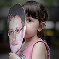 Young protestor for Snowden in Hong Kong Photo: AFP