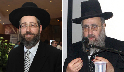 The two current chief rabbis: Ashkenazi Rabbi David Lau and Sephardi Rabbi Yitzhak Yosef (Photos: Gil Yohanan, Shturem.net)