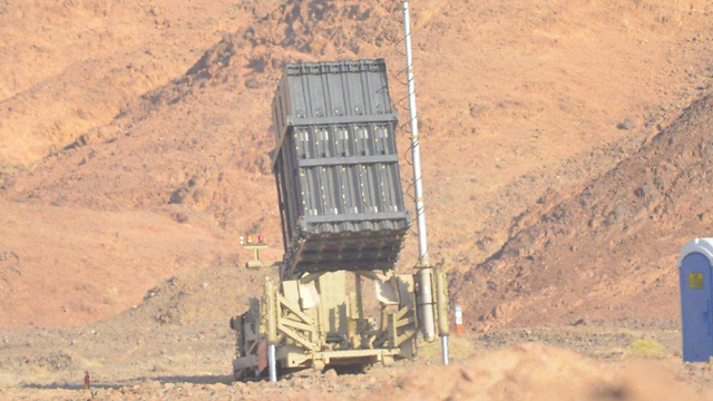 Iron Dome battery in Eilat (Photo: Meir Ohayon)