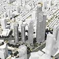 Simulation of Keren Hakirya project with tallest building in Israel Photo: View Point