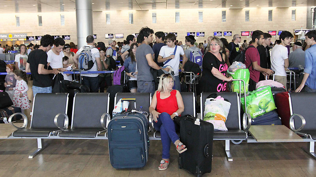 Israelis not giving up on vacations either. Ben-Gurion Airport (Photo: Ido Erez)