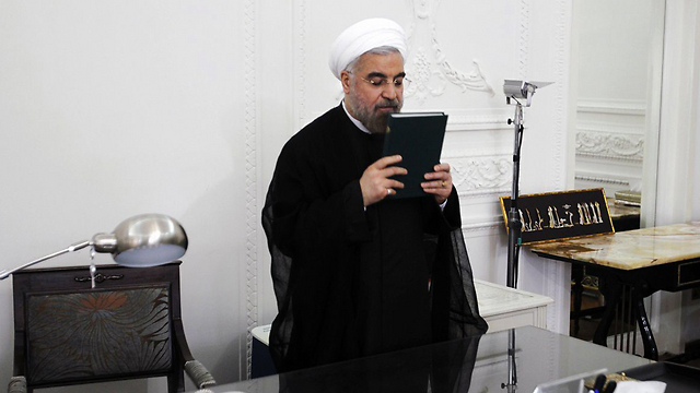 Rohani at Presidential Palace (Photo: MCT)