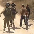 Settlers detained Photo: B'Tselem
