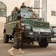 Yemeni soldiers securing British embassy Photo: Reuters