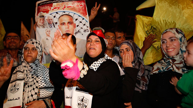 Ramallah celebrates prisoners' release in August (Photo: AP)