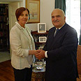 Gal-On with Prince Hassan Bin Talal Photo: Courtesy of Meretz Spokesperson