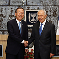 Peres and Ban Photo: AFP