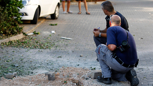 Scene of hit in Gesher HaZiv (Photo: Reuters)