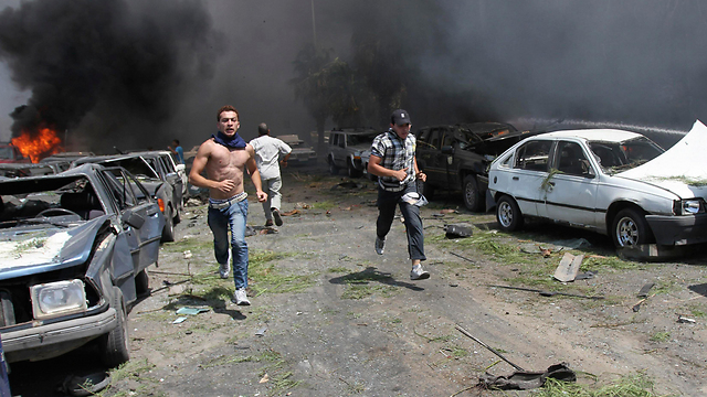 An explosion in war torn Tripoli, Lebanon (Photo: Reuters)
