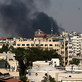 Damascus under fire Photo: AP