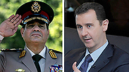 War on terrorists? Assad and al-Sisi Photos: AFP, AP