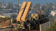A Patriot missile battery stationed near Haifa.