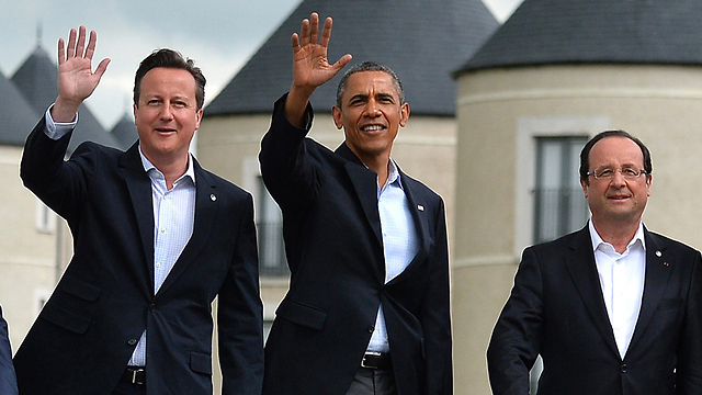 David Cameron, Barack Obama, and Francois Hollande (Photo: AFP)