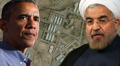 Diplomatic solution? Obama (L) and Rohani (Photos: AP, AFP, Google Maps)