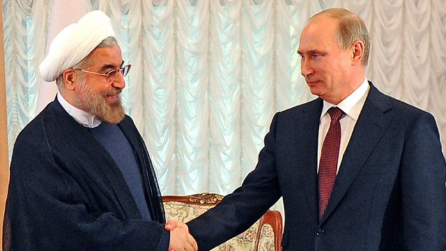 Rohani, Putin in Kyrgyzstan, Friday (Photo: AFP) (Photo: AFP)