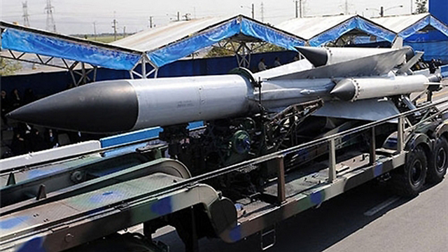 Long-range missile displayed at parade