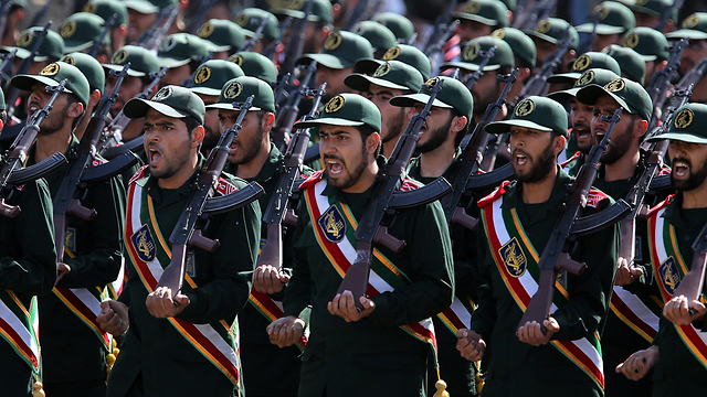 Revolutionary Guard troops during parade (Photo: EPA)