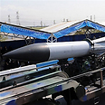 Missile displayed at parade
