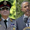 מצרים בוערת ברק אובמה ו א-סיסי סיסי Photo: AP, AFP