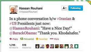 Rohani's tweet which was later removed