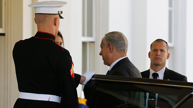 Netanyahu at the White House (Photo: Reuters)
