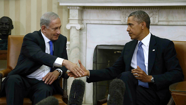 Netanyahu and Obama at the White House (Photo: AP)