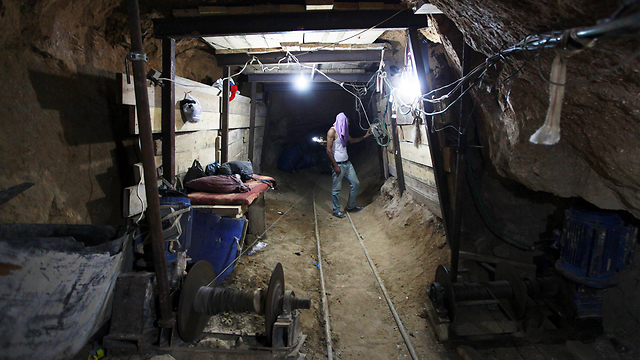 Gaza tunnel (Photo: AP)
