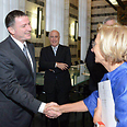 Edelstein with Italian FM Emma Bonino Photo: Eran Sidis, speaker's spokesman
