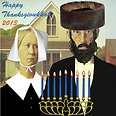 American Gothic Thanksgivukkah poster Photo: AP