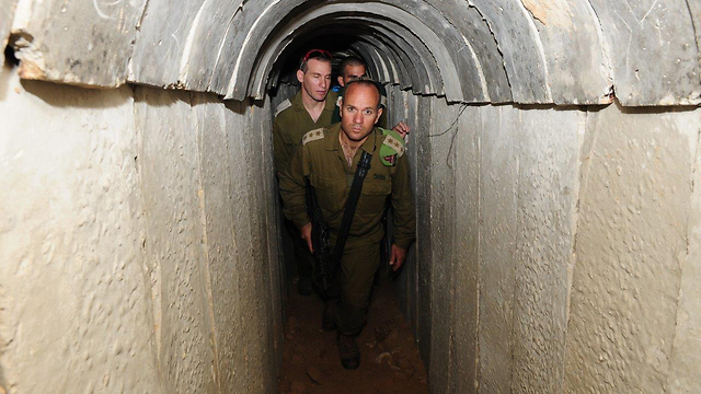 Terror tunnel in Gaza (Photo: Herzl Yosef)